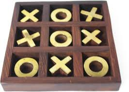 Naughts And Crosses Wooden Game Custom Aatike Noughts Crosses Board Game Noughts Crosses Shop For