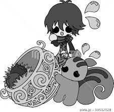 秋と女の子の可愛いイラスト 栗の収穫 のイラスト素材 30512528 Pixta