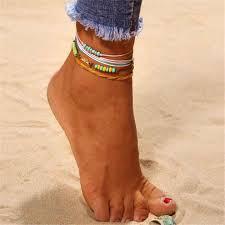 <b>Bohemian</b> Sea <b>Shell</b> Gold <b>Anklets</b> For Women <b>Shell Cowrie</b> Rope ...