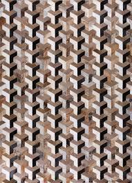 patchwork cowhide rug infinity by mosaic rugs luxury handcrafted brown white patchwork cowhide rug modern geometric