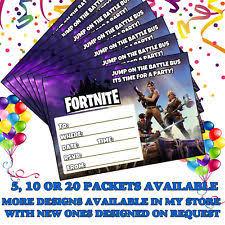 Boys Party Invitations Ebay