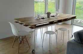 picture of diy pallet dining table