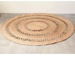 cream 6 round rug