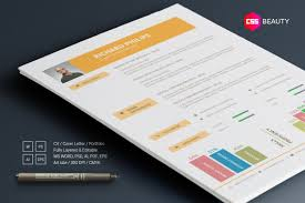 Modern Contemporary Resume Template For Word Photoshop Illustrator