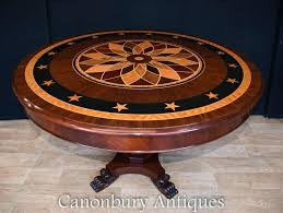 art deco round dining table inlay centre tables e style room chairs