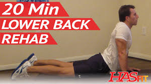 20 Min Lower Back Rehab Lower Back Stretches For Lower