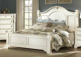 Lovely Distressed White King Bed Extravagant Bedroom Furniture Gray Home Interior  14