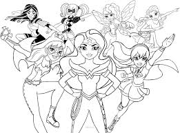 Female Superhero Coloring Pages Girl Superhero Coloring Pages 9 21825