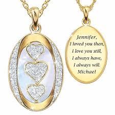i love you personalized diamond pendant
