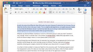 Mircosoft Word For Mac Microsoft Office For Mac 2016 Review At Last A Modern Office For