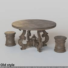 66 Round Dining Table French Country Round Dining Table 3d Model Max Fbx Cgtradercom