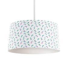 mermaid lampshade cream and blue