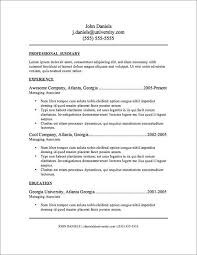 Resume Templates Free Impressive 28 Resume Templates For Microsoft Word Free Download Some Work To