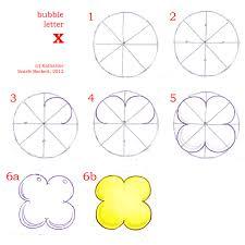bubble letter X