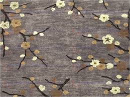 cherry blossom area rugs hand tufted fl pattern polyester gray yellow rug stainmaster blossoms cherry blossom area rugs