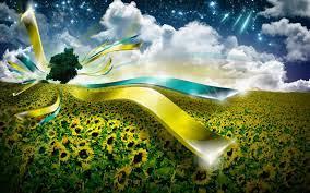 Ukraine flag wallpaper