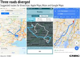 testing google maps vs waze vs apple maps for the fourth of july