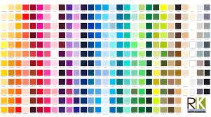 Quiltmania Kona Cotton Solids Digital Printed Color Chart Online Kaufen