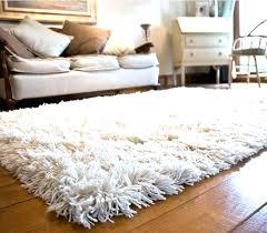 beige fluffy rug