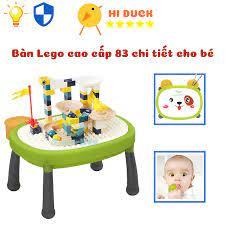 Bàn Đồ Chơi Lego Cao Cấp 3 in 1 Cho Bé Phát Triển Kỹ Năng Toàn Diện | Hi  Duck Store