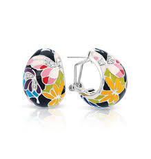 belle Étoile erfly kisses black earrings