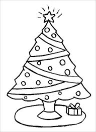 Printable Christmas Tree Tree Coloring Pages Free Kindergarten For Kids Printable