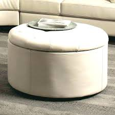 round coffee table with storage round storage ottoman how to make a round ottoman coffee table