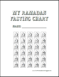 Our Precious Sprouts My Ramadaan Fasting Chart Ramadan