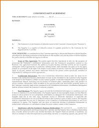 Business Confidentiality Agreement Sample 24 Non Disclosure Agreement Template Free Itinerary Template Sample 19