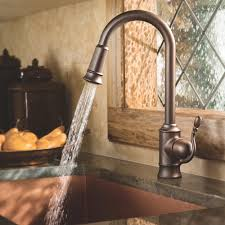 oil rubbed bronze moen oil rubbed bronze kitchen faucet centerset single handle pull down spray touch loop transitional