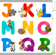 Free Educational Cartoons Education Cartoon Alphabet Letters For Kids Stock Vector