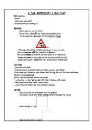 english worksheets car worksheets page  a car accident