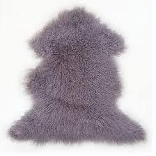 genuine tibetan mongolian lamb fur pelt quail contemporary novelty rugs by curly fur imports