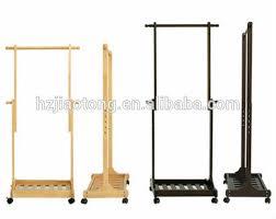 Coat Stand Rack Height Adjustable Wooden Coat Stand Rack With Wheels Buy Coat 92