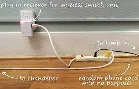 chandelier plug in converter how to add a wireless lightswitch to light a room without a hardwired how to hardwire a plug in chandelier mini