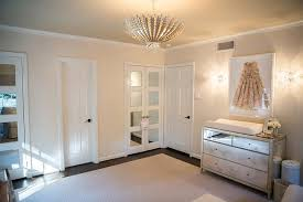 Nursery with Antiqued Mirrored Changing Table