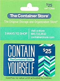 The Container Store Gift Card $25: Gift Cards - Amazon.com