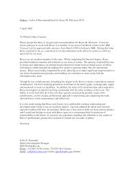 personal letter of recommendation examples apology letter  recommendation