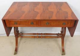 yew sofa table in antique regency style