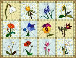Paper Piecing Flower Pin By Kathryn Kraus Morris On For The Love Of Fabric Paper