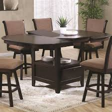 dining room stunning dining room set with swivel chairs