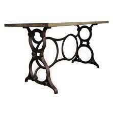 art deco outdoor furniture. Nuevo Industrial Art Deco Cast Iron Sewing Machine Desk | Kathy Kuo Home Outdoor Furniture