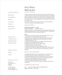 Professional Makeup Artist Resume