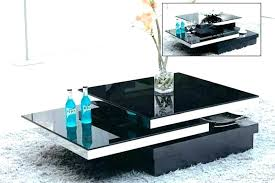 glass swivel coffee table ultra modern black tokyo full size
