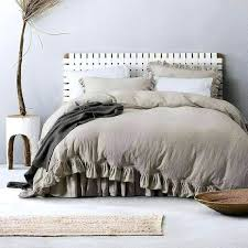linen bed cover navy duvet nz set flax w matching ruffled flouncing stone washed organic 3 image 0 linen bed cover