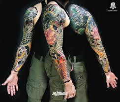 фото татуировки Japanese Sleeve японский рукав в стиле иредзуми