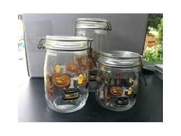 ad arc france glass bowl lids kitchen theme canisters