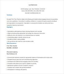 basic format of a resume first time teacher resume template free customizable 51 templates