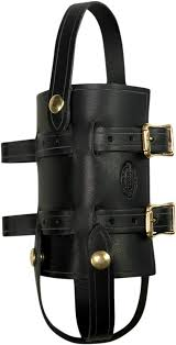 nash black leather brass sling quick snap universal 33oz water bottle holder jt s cycles