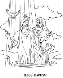 Small Picture Jesus Baptism by John the Baptist Coloring Page NetArt